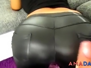 German girl fucked in the leggings and high heels