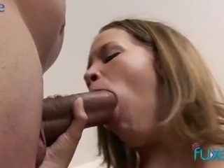 Just ordinary looking slim chick blows dick and gives man a ride