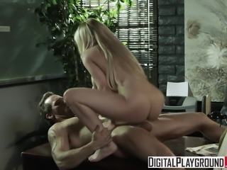 Madison Ivy gets fucked on her bosses desk for a lil extra