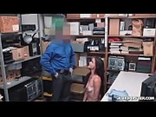 Officer stick his cock inside Sofies pussy