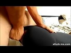 Sexy big booty riding big cock