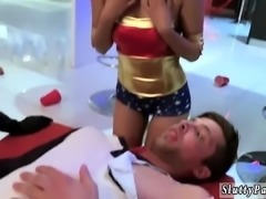 Russian teen strip dance Halloween Scare