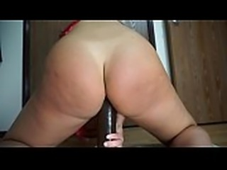 Amazon Riding Huge Black Dildo