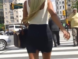 Candid Office Bitch in Pencil Skirt and Heels