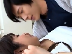 Cute Oriental teen gets her hairy twat licked and drilled