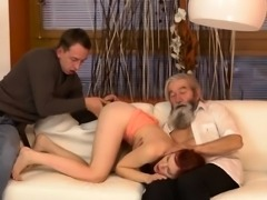 Old white guys gangbang Unexpected practice with an older ge
