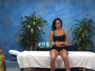 Enchanting attractive chick is massaging studs