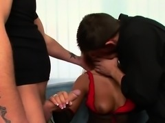 Anal threesome with hot babe Alishia