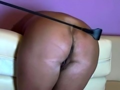 Naughty mature wife gets her big round booty spanked hard
