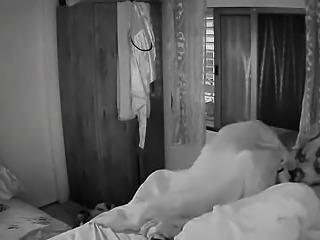 Amateur blonde milf has sex with her partner on hidden cam