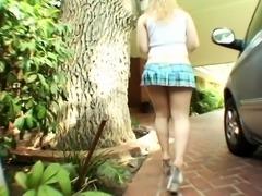 Amateur slut teen enjoys pov blowjob and hard fuck action
