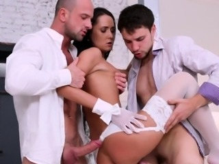 Sexy Angie Moon Anal and DP Threesome