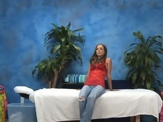 Sexy angel is into massages