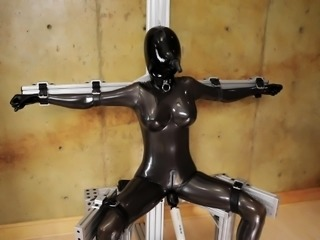 Fetish princesses in latex using bdsm toys