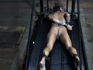 Gagged beauty humiliated by her master