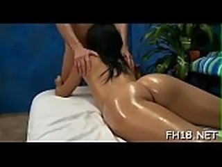 Hot fucked hard and facialed during a massage episode