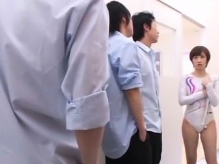 Japan beauty in sexy lingerie takes good care of ramrod
