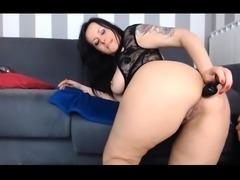 Brunette Milf In Red Stockings Webcam Toying