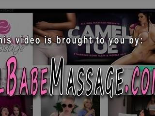 Chubby massaged lesbian