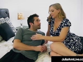 Step Mommy Julia Ann Opens Mouth For Step Son's Cum!