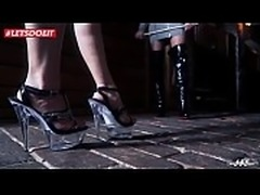 Hot fetish BDSM sessions with hot German MILF in the Dungeon