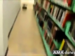 Blond Amateur fucked in Library