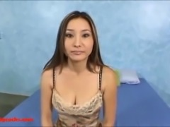 big huge white monster cock breaking open asian maid pussy