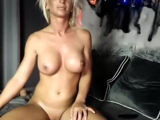 Solo masturbation with blonde babe