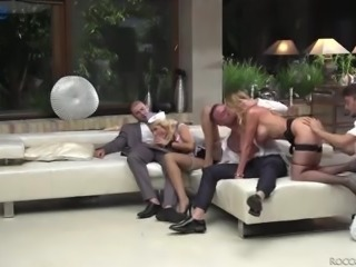 Incredibly voracious for multiple orgasm Silvia Dellai takes hard DP