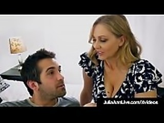Step Mommy Julia Ann Opens Mouth For Step Son&#039_s Cum!