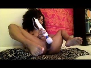 Busty Ebony POV Masturbation