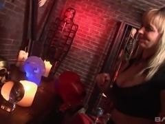 Incredibly voracious MFF threesome with two big breasted latex whores