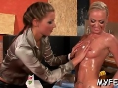 Wicked domination scene with lewd women in action