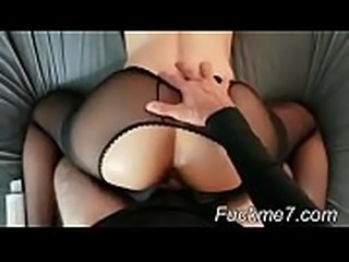 Hot session of sex with squirt, dp, anal, and creampie to school girl
