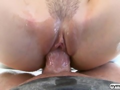 NYMPHO Alina Lopez lubed up and fucked by a big cock