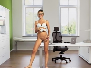 bottomless office managerin