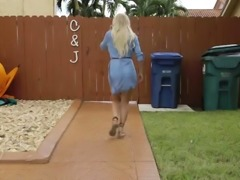 Petite blonde teen blowjob Alone With A Drone