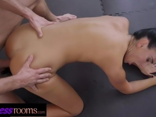 Fitness Rooms Two athletes Katie Dee and Max fuck hard