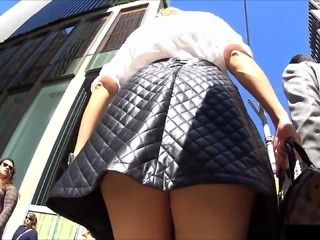 Bombshell MILF Coworker - Busted downblouse + Upskirt Thong