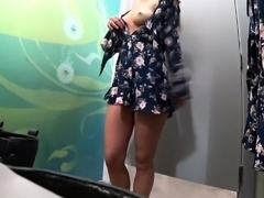 Sexy webcam milf with a wonderful ass tries on new clothes