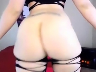PAWG booty shake and anal play