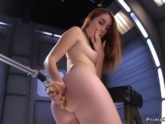 Redhead babe masturbates and play with fucking machine on snapchat: jbae.69