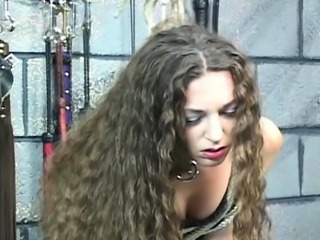 Extreme thraldom video with angel obeying the dirty play