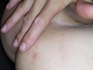 Stroking my big wet cock n fingering my smooth tight asshole