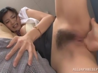 Sex in the office with a slutty Japanese siren