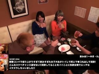 Japanese busty girl gives titjob
