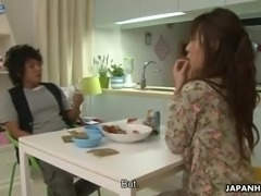 Japanese nympho Nami Honda gets louder when dude fucks her missionary