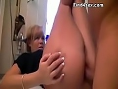 Blonde Slut Big fake Tits Fucked In Public Night Club Toilet Naked Blowjob