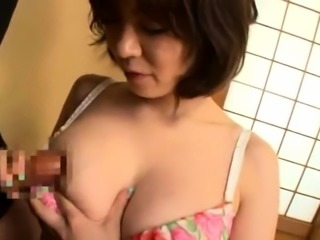 Busty Asian wives show off their blowjob and handjob talents