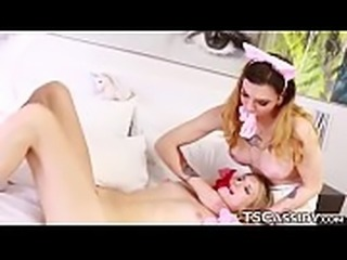 Tranny Cassidy Quinn wears diapers after spanking
